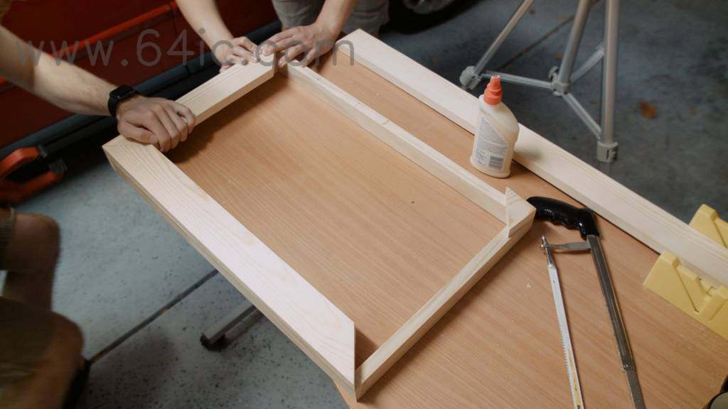 智能镜子木框架