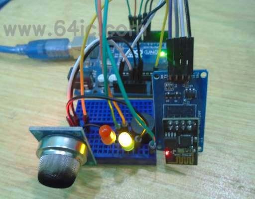 如何使用Arduino、ESP8266和气体传感器制作IoT烟雾报警器?