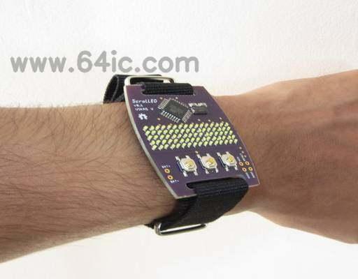 带LED显示屏的手表设计