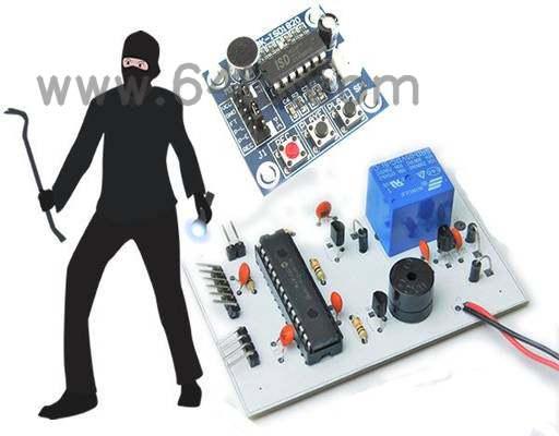 如何用PIC16和ISD1820来制造一个会说话的安全警报?