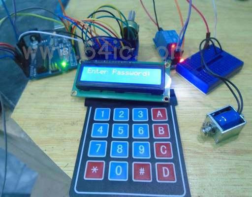 如何用键盘和液晶显示器制作Arduino无钥匙门锁系统?